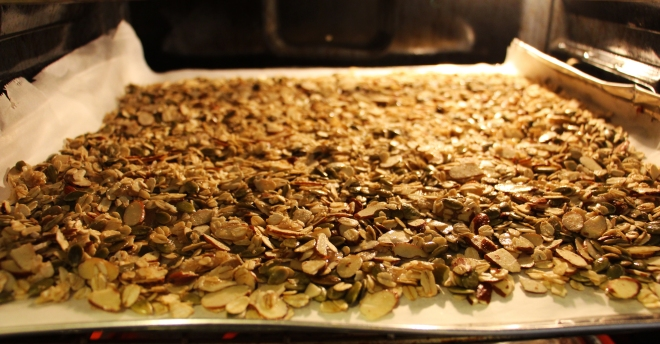 granola-cooking
